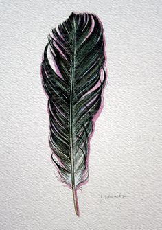 I want something similar to this feather with purple beads on the tip like a feather my mom gave me a long time ago.  I'm thinking either on my shoulder blade or the back of my neck or right between my shoulders.