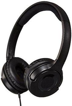 Lightweight On-Ear Headphones - Black