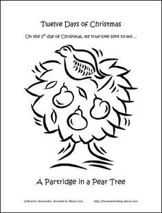 1000 images about coloring and pattern pages on pinterest for 12 days of christmas coloring page