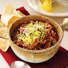 Easy Ground Chicken Recipes  | (Low-Fat) Chicken Chili | MyRecipes.com