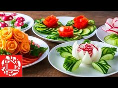 This is why food is a work of ART Meat Recipes video recipe Salad Decoration Ideas, Vegetable Decoration, Fruit And Vegetable Carving, Vegetable Recipes, Easy Cooking, Cooking Recipes, Cooking Ideas, Deco Fruit, Amazing Food Art