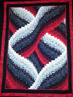 PVQG Black, White and Red Bargello Quilt