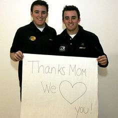 Ty and Austin Dillon, they are so adorable.