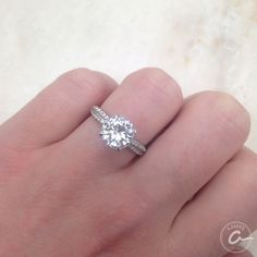 Round diamond engagement ring by A. Jaffe - Available at Razny Jewelers