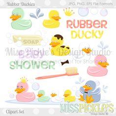 Rubber Duckies- Clipart Set
