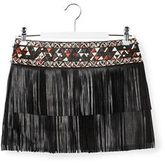 Valentino Fringed Mini Skirt ($2,980) ❤ liked on Polyvore featuring skirts, mini skirts, colorful skirts, multi color skirt, mini skirt, short skirts and fringe skirt