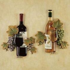 Tuscan kitchens – Mediterranean Home Decor Tuscan Wall Decor, Wine Wall Decor, Wine Wall Art, Wine Art, Rustic Decor, Wine Theme Kitchen, Grape Kitchen Decor, Kitchen Themes, Kitchen Ideas