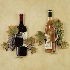 27 Best Wine Wall Decor Images Ornaments Furniture Grape Kitchen