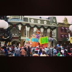 Goofy dancing in the Christmas Parade #christmas 2014