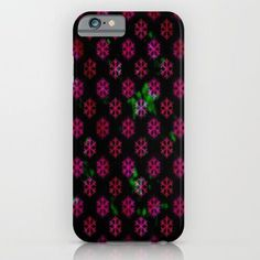 Red and Pink Snowflakes iPhone & iPod Case by Lilbudscorner from Society6. Saved to Cases/skins. #snowflakes #redandpink.