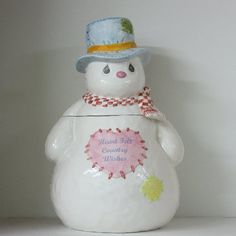 Collectible Cookie Jars from Clark's Vintage Cookie Jars Christmas Cookie Jars, Christmas Snowman, Cookie Jars For Sale, Whole Wheat Cookies, Precious Moments, Antique Cookie Jars, Vintage Cookies, Biscuit Cookies, Cute Cookies