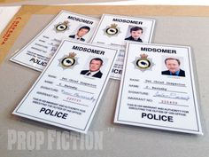 This is a rare opportunity to own these highly sought-after Midsomer Murders laminated badges! This set of reproduction prop IDs are professionally printed using the best quality materials. This set of four of badges consists of. | eBay!