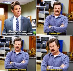 Ron's wisdom -- Parks and Recreation. Parks And Rec Quotes, Tv Quotes, Movie Quotes, Parcs And Rec, Funny Video Memes, Parks And Recreation, Just For Laughs, Best Shows Ever, Funny Kids
