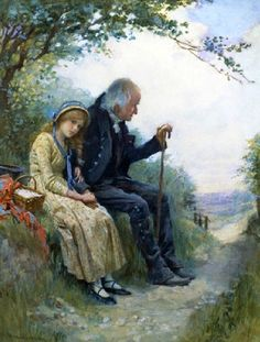 'Grandpa's Favorite'  by Harold Copping (1863 – 1932, English)