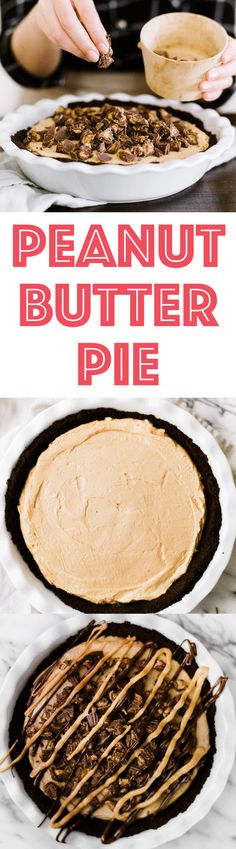 This homemade Peanut Butter Pie is made from scratch with just a few ingredients and will have everyone coming back for seconds! It's CRAZY good!