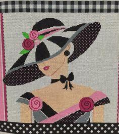 Shelly Tribbey needlepoint lady Cross Stitch Geometric, Cross Stitch Art, Simple Cross Stitch, Modern Cross Stitch, Cross Stitch Designs, Cross Stitching, Cross Stitch Patterns, Needlepoint Designs, Needlepoint Stitches