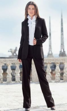 LEL Pinstripe Suit (Black Pinstripe) Tall Women's Clothes, Ladies Suits Clothing & Apparel by Long Elegant Legs Business Outfits, Business Fashion, Business Clothes, Clothing For Tall Women, Clothes For Women, Women's Clothes, Dressy Outfits, Cool Outfits, Fashion Outfits