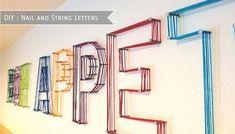 DIY String Letters via Just Keep It Simple   francoisetmoi.com