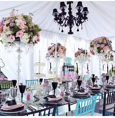 Alice and wonderland theme. lol. its neat. wouldn't mind tea time like this.
