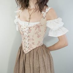 Pretty Outfits, Pretty Dresses, Beautiful Dresses, Cute Outfits, Moda Aesthetic, Aesthetic Clothes, Looks Style, Looks Cool, Renaissance Corset