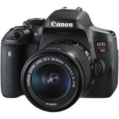 Canon EOS Rebel T6i DSLR Camera with 18-55mm Lens 0591C003 B&H