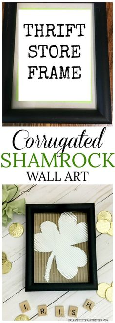 Corrugated DIY Shamrock Wall Art