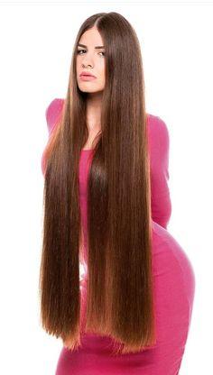 Very long hair and brings attention Long Brown Hair, Very Long Hair, Thick Long Hair, Silky Hair, Smooth Hair, Beautiful Long Hair, Gorgeous Hair, Rapunzel Hair, Hair Lengths