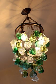 Show-Stopper-    Glowing Punch-Cup Chandelier. A...M...A..Z..I..N..G !!