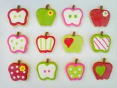 Apple Sugar Cookies #fooddecoration, #food, #cooking, https://facebook.com/apps/application.php?id=106186096099420