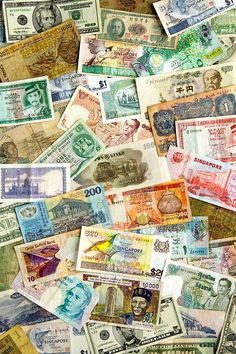 International Currencies Photograph  - International Currencies Fine Art Print