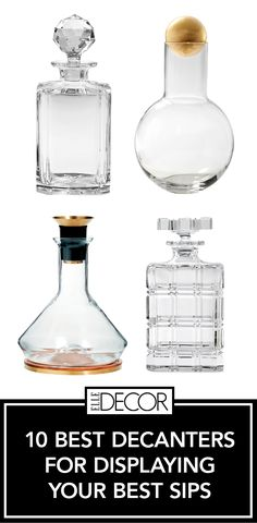 Get the festivities going with a decanter that showcases your style as elegantly as your finest drinks.