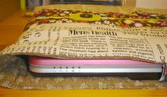 Reversible Laptop Sleeve Tutorial. Learn how to make a laptop sleeve that will protect your device. You won't need too much time or fabric to complete this project.