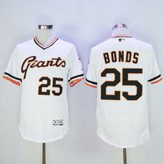 1939d9d22 Men s San Francisco Giants  25 Barry Bonds Retired Black Pullover 2016  Flexbase Majestic Baseball Jersey