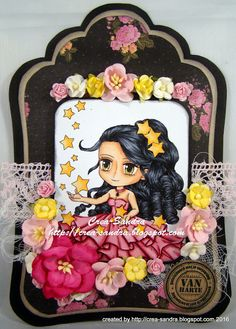 art by miran: Danica Color Card, Hand Coloring, Paper Crafts, Birthday, Projects, Stamps, Cards, Handmade, Heart