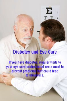 Do you or does someone you know have diabetes? If so, eye care should be a top priority!