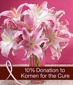 Susan G Komen Oriental Lily Fragrant Bouquet