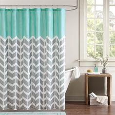 Nadia Microfiber Printed Shower Curtain