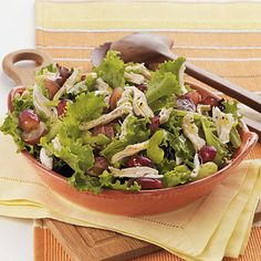In this unique sweet-savory tossed salad, juicy red grapes offer a surprising contrast to the tangy citrus dressing. You'll need to...