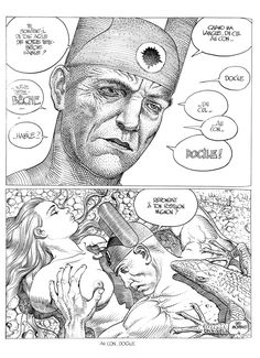 Juxtapoz Magazine - Black and White Drawings by Moebius