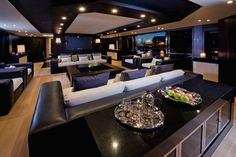 Luxury Yacht Interior Design - House and Decoration Yacht Luxury, Luxury Yacht Interior, Luxury Travel, Luxury Penthouse, Home Design, Home Interior Design, Interior Styling, Design Design, Design Model