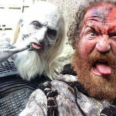 Game of thrones season 5 - White Walker and Wilding taking a selfie, so cool