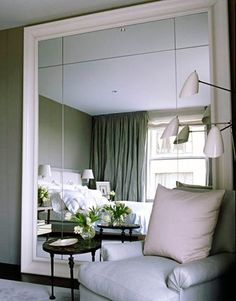 Large free-standing mirrors do wonders for doubling the visual space in small rooms. www.paramountdesigngroup.net. info@paramountdesigngroup.net. We'll answer all your decorating questions for free.