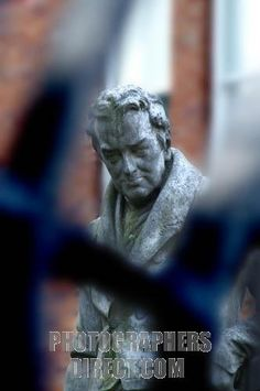 Statue of William Wilberforce in the garden of Wilberforce  House, Hull, England