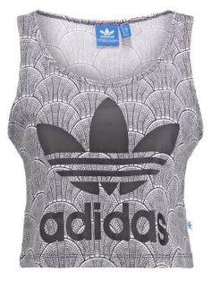 Adidas Originals Shell Tile Top White Black Camisetas Y Tops De Mujer La  mezcla del lujo y el estilo más urbanita está en la calle de48544d34ffc
