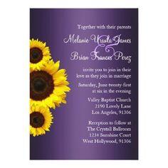 #weddinginvitation #weddinginvitations (Purple and Yellow Sunflower Wedding Invitation) #Country #Daisy #Engagement #Fall #Floral #Outdoor #Purple #Royal #Sunflower #Wedding #Yellow is available on Custom Unique Wedding Invitations  store  http://ift.tt/2aF7qIk