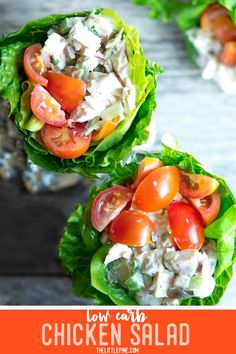 Easy low carb chicken salad is the creamy, protein packed keto lunch recipe you've been looking for! Bring it to a picnic, use it for meal prep — with all the possible variations, you'll never get tired of it! #lowcarb #keto #glutenfree #grainfree #healthy #recipe #atkinsdiet #greekyogurt #highprotein #cleaneating #celery #redonions #wrap #dinners #healthyrecipes #veggies #comfortfoods #appetizers #chickenbreast #sunflowerseeds