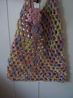 Ribbon Bag With Geraniums By Crocknits - Purchased Crochet Pattern - (ravelry)