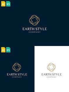 Earth Style Logo Earth Logo, Text Fonts, Fashion Company, Logo Templates, Logos, Women, Style, Swag, Logo