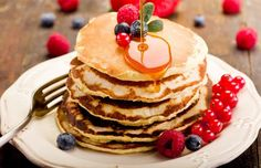 Para comer na manhã do dia 25: panqueca americana!