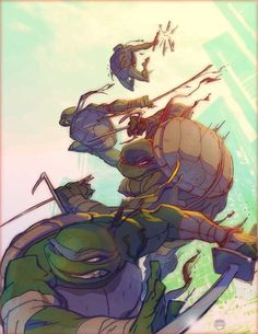 """Heroes in a Half-Shell"" by *kizer180 on deviantART. (Teenage Mutant Ninja Turtles)"